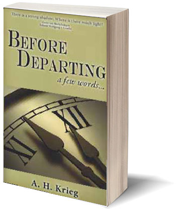 Before Departing A Few Words Book